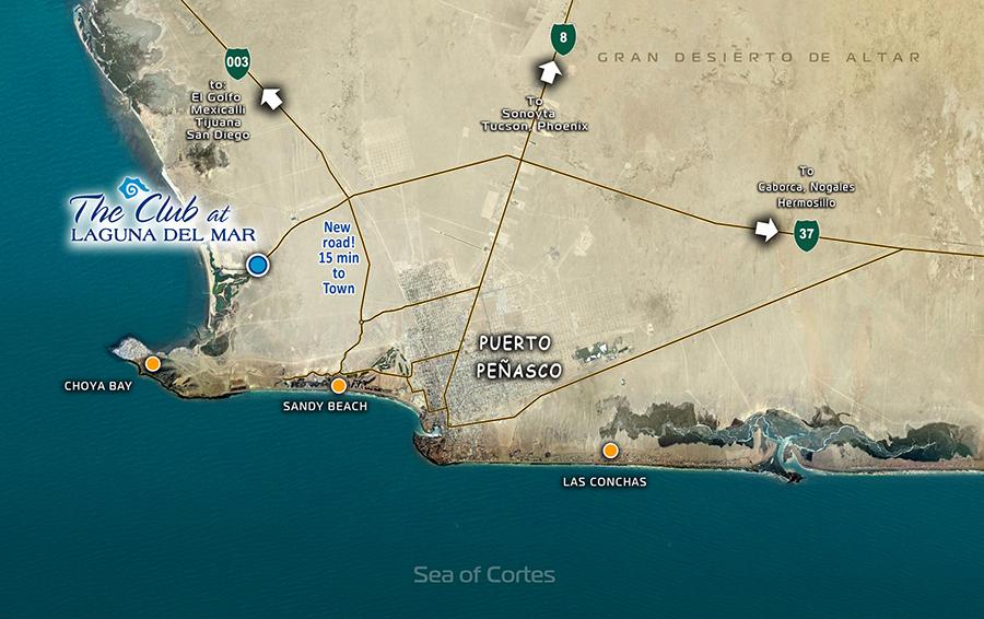 Map to Laguna Del Mar